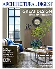 Architectural Digest Aug 2011 Issue Front Cover