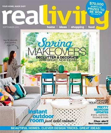 Real Living Aug 2011 Issue Front Cover