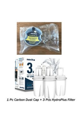 Novita Carbon Dust Cap & HydroPlus Filter For Model NP3290/ 2290/ 1190