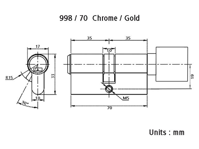 Art 998/70 Technical Drawing