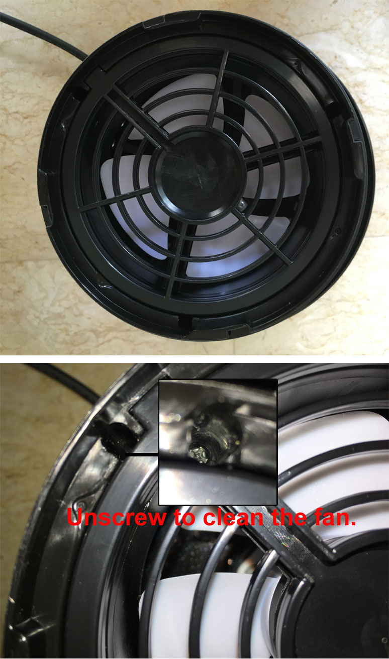 Pest-Stop V6 Mozzie Magnet - Cleaning of Fan