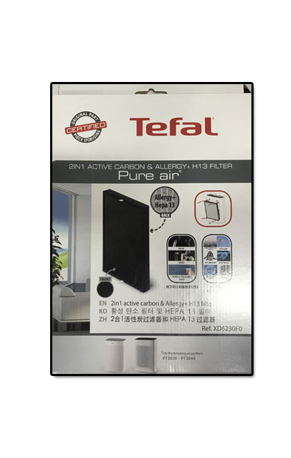 Tefal Active Carbon & Allergy + H13 Filter Pure Air XD6230F0